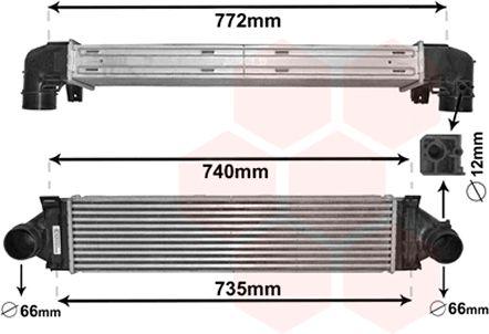 Intercooler, échangeur - VAN WEZEL - 02004219