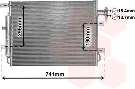Condenseur, climatisation - VAN WEZEL - 02005217