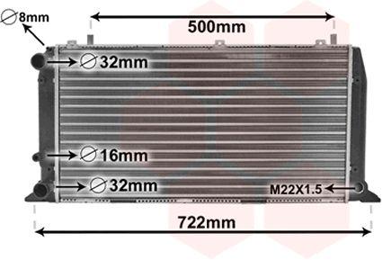 Radiateur, refroidissement du moteur - VAN WEZEL - 03002047