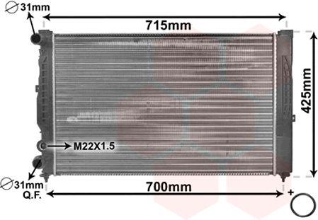 Radiateur, refroidissement du moteur - VAN WEZEL - 03002105