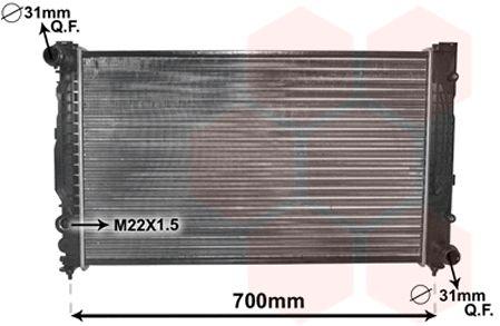 Radiateur, refroidissement du moteur - VAN WEZEL - 03002124