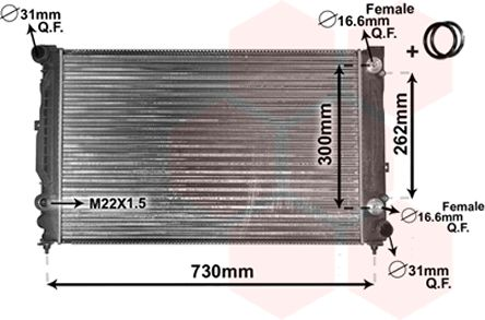 Radiateur, refroidissement du moteur - VAN WEZEL - 03002125