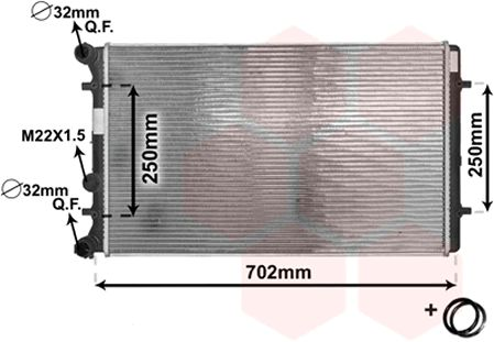 Radiateur, refroidissement du moteur - VAN WEZEL - 03002129