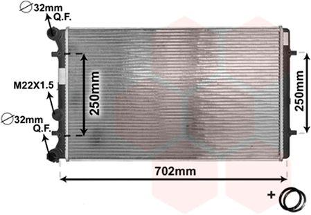 Radiateur, refroidissement du moteur - VWA - 88VWA03002129