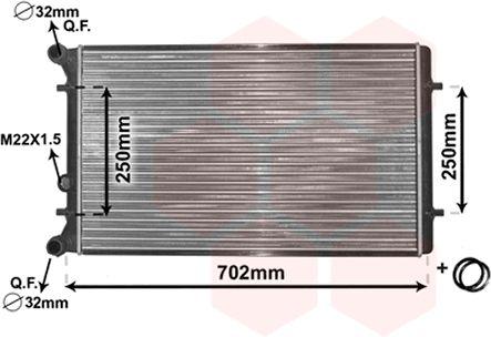 Radiateur, refroidissement du moteur - VWA - 88VWA03002155