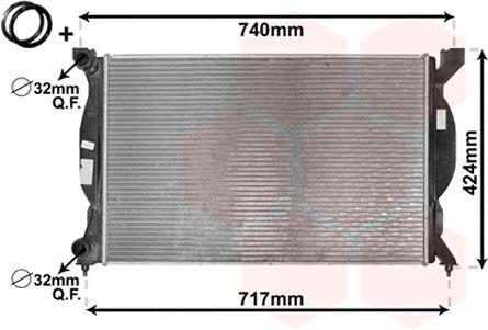 Radiateur, refroidissement du moteur - VAN WEZEL - 03002201