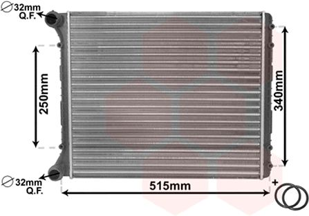 Radiateur, refroidissement du moteur - VWA - 88VWA03002220