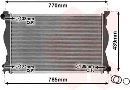 Radiateur, refroidissement du moteur - VWA - 88VWA03002230