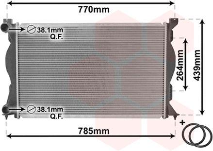 Radiateur, refroidissement du moteur - VWA - 88VWA03002233