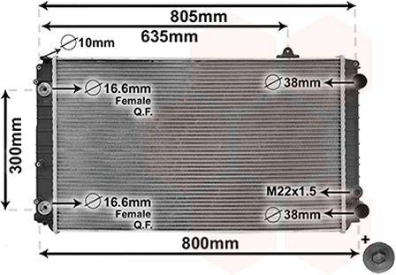 Radiateur, refroidissement du moteur - VWA - 88VWA03002252