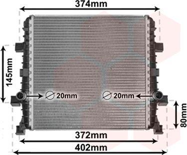 Radiateur, refroidissement du moteur - VAN WEZEL - 03002362