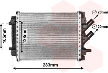 Radiateur, refroidissement du moteur - VAN WEZEL - 03002384