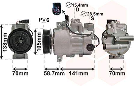 Compresseur, climatisation - VWA - 88VWA0300K279