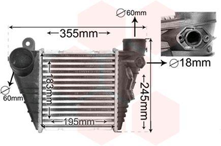 Intercooler, échangeur - VAN WEZEL - 03004185