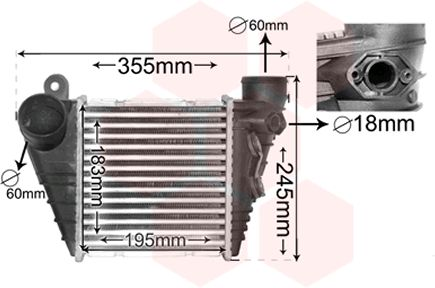 Intercooler, échangeur - VWA - 88VWA03004185