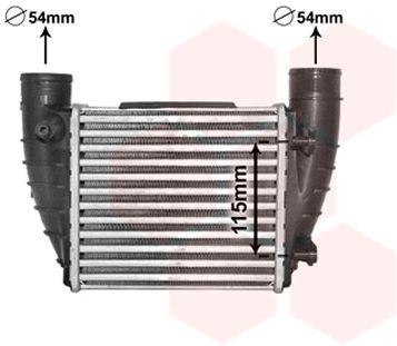 Intercooler, échangeur - VAN WEZEL - 03004364
