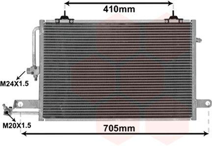Condenseur, climatisation - VAN WEZEL - 03005117