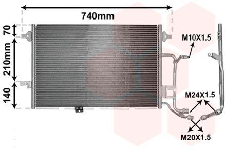 Condenseur, climatisation - VAN WEZEL - 03005137