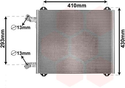 Condenseur, climatisation - VAN WEZEL - 03005193