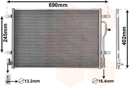 Condenseur, climatisation - VAN WEZEL - 03005194