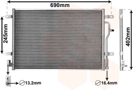 Condenseur, climatisation - VWA - 88VWA03005194