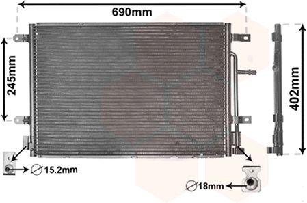 Condenseur, climatisation - VWA - 88VWA03005238