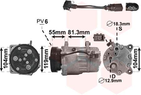Compresseur, climatisation - VWA - 88VWA0300K003