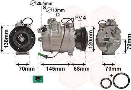 Compresseur, climatisation - VWA - 88VWA0300K011