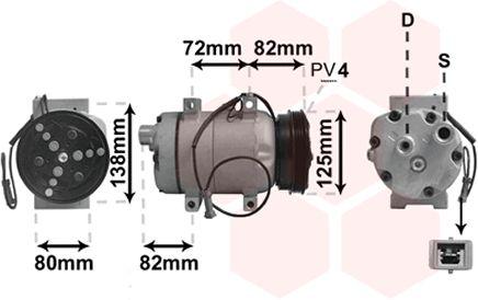 Compresseur, climatisation - VWA - 88VWA0300K178