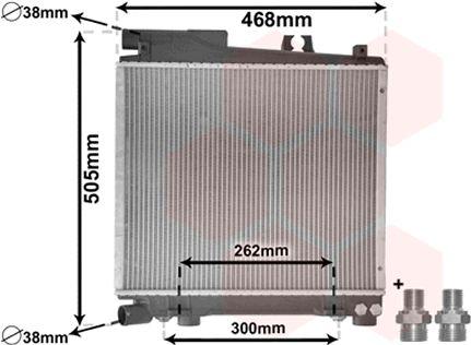 Radiateur, refroidissement du moteur - VWA - 88VWA06002056