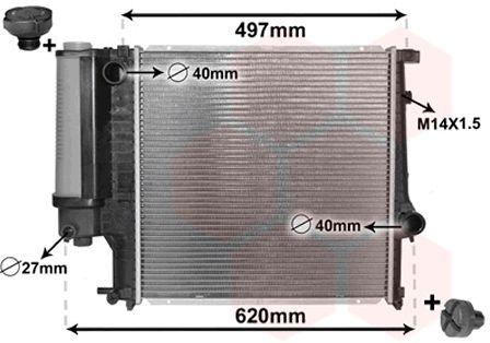 Radiateur, refroidissement du moteur - VAN WEZEL - 06002124