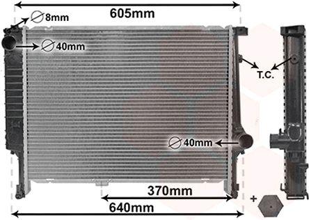 Radiateur, refroidissement du moteur - VAN WEZEL - 06002167
