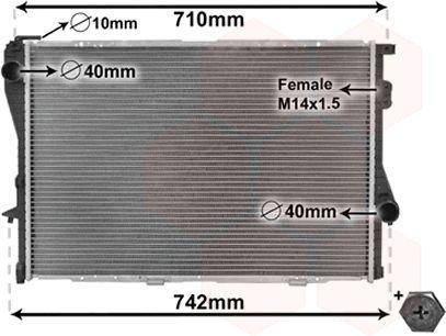 Radiateur, refroidissement du moteur - VWA - 88VWA06002170
