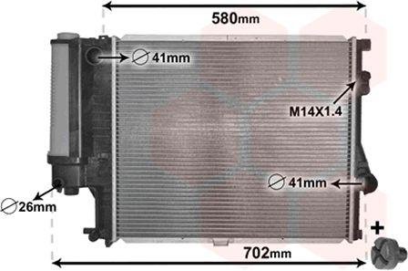 Radiateur, refroidissement du moteur - VAN WEZEL - 06002186