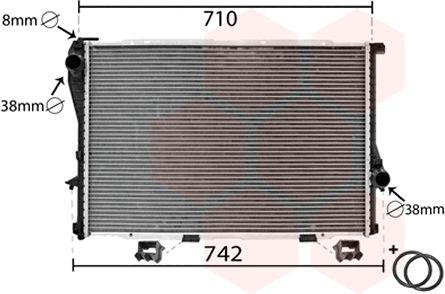 Radiateur, refroidissement du moteur - VAN WEZEL - 06002233