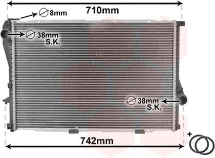 Radiateur, refroidissement du moteur - VAN WEZEL - 06002235
