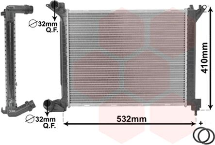 Radiateur, refroidissement du moteur - VWA - 88VWA06002263