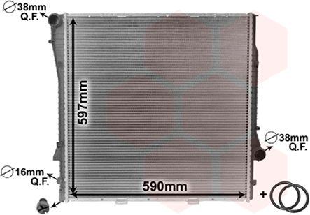 Radiateur, refroidissement du moteur - VAN WEZEL - 06002275
