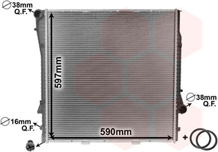 Radiateur, refroidissement du moteur - VAN WEZEL - 06002276