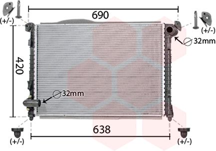 Radiateur, refroidissement du moteur - VWA - 88VWA06002286