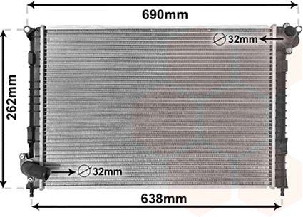 Radiateur, refroidissement du moteur - VAN WEZEL - 06002314