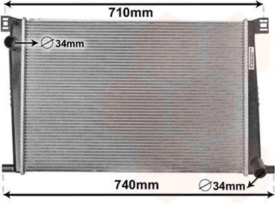 Radiateur, refroidissement du moteur - VAN WEZEL - 06002356