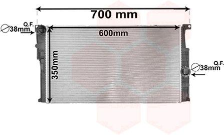 Radiateur, refroidissement du moteur - VAN WEZEL - 06002446