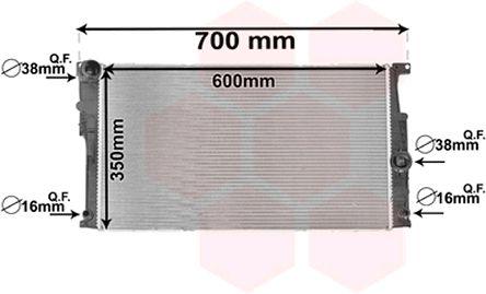 Radiateur, refroidissement du moteur - VAN WEZEL - 06002447