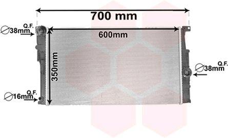 Radiateur, refroidissement du moteur - VAN WEZEL - 06002448