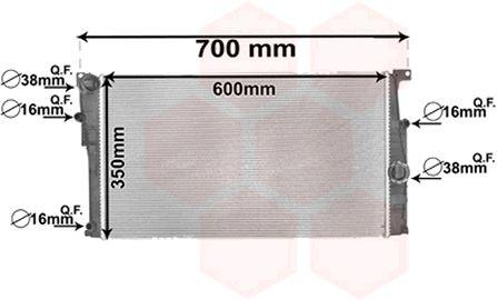 Radiateur, refroidissement du moteur - VAN WEZEL - 06002449