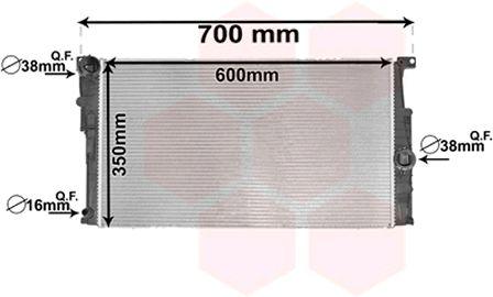 Radiateur, refroidissement du moteur - VAN WEZEL - 06002453