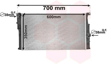 Radiateur, refroidissement du moteur - VAN WEZEL - 06002455