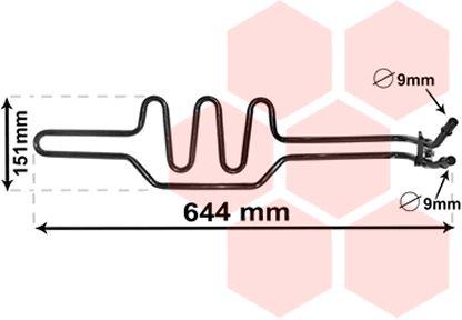 Radiateur d'huile - VAN WEZEL - 06003469