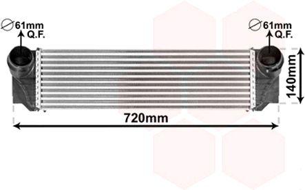 Intercooler, échangeur - VWA - 88VWA06004374
